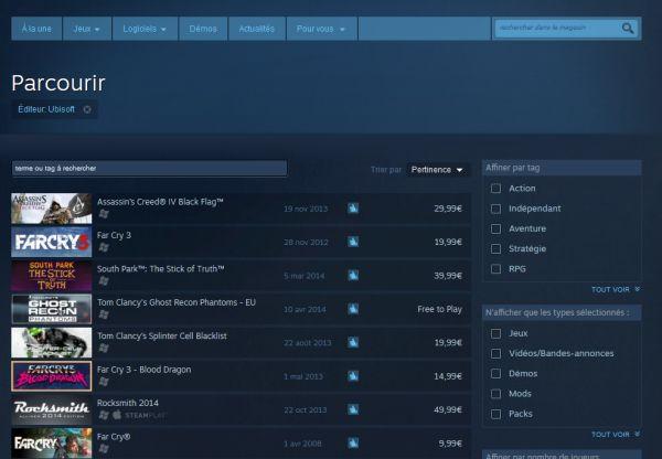 Liste des jeux Ubisoft