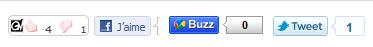 Outils Facebook, Twitter et Google Buzz - Relayez facilement l'info de Vossey.com!
