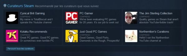 Curateurs Steam