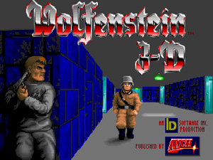 Arrivée sur le jeu Wolfenstein 3D