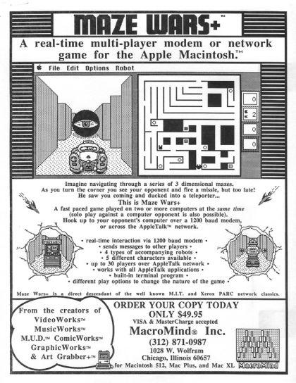 Maze War sur Mac...